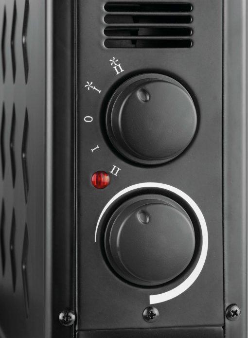 ECG TK 2030 meleglevegős konvektor fekete
