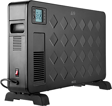 ECG TK 2040 DR Black meleglevegős konvektor
